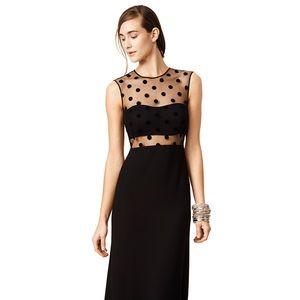 Jill Stuart Dipping Dots Gown in Black size 6